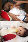 ハンズフリー自動授乳クッション